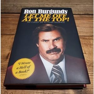 Other - Ron Burgundy Let Me Off At The Top Will Ferrell Vg